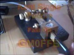 Kent Single Paddle Morse key in action CQ CQ DE GM0FFB