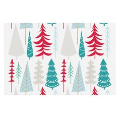 KESS InHouse KESS Original 'Happy Forest Red' Blue Dog Place Mat, 13' x 18' ** Wow! I love this. Check it out now! (This is an amazon affiliate link. I may earn commission from it)