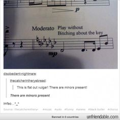"""There are minors present!"" Music humor. Lol. Sorry about the language. Too funny"
