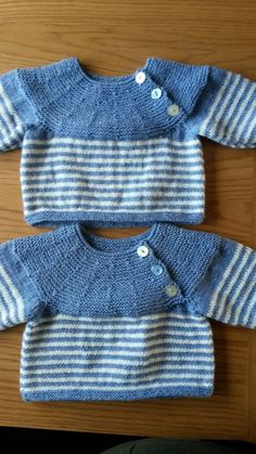 Jumpers I made for my twin grandsons