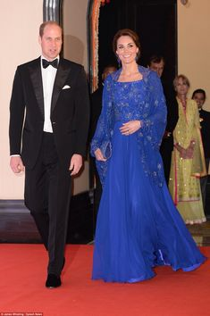 Glitz and the glamour: Dressed to impress for a glittering Bollywood gala, the Duke and Du...