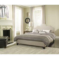Shop for Sleep Sync Honey Brook Taupe Upholstered Platform Bed Complete . Get…