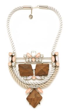 MoutonCollet Spring/Summer 2013jewelery collection - Pink Saxifraga Necklace