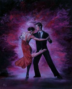 ARTFINDER: Tango by Gabor Osi - Original Oil Painting, Handmade, Canvas on Hardboard, 50*40 cm / 19,7*15,75 Inches