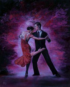 ARTFINDER: Tango by Gabor Osi - Original Oil Painting, Handmade, Canvas on Hardboard, 50*40 cm / 19,7*15,75 Inches