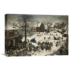 Global Gallery 'Census at Bethlehem' by Pieter Bruegel the Elder Painting Print on Wrapped Canvas Size: