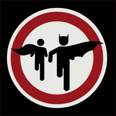 Caped Crusader Road Sign--Perfect Decoration for a Superhero party or as a Poster for a Bedroom