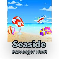 Seaside Scavenger Hunt Clues for kids. The next day at the beach could be a literal beach treasure hunt!  Click for clues, freebies and ideas ;-)