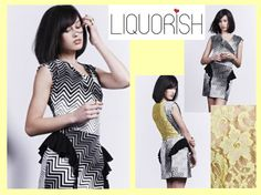 Liquorish Monochrome With Neon Lace Dress, bette than half price now at: https://www.liquorishonline.com/liquorish-monochrome-with-neon-lace-dress-4077.html