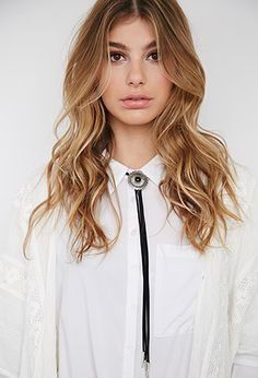 Faux Stone Bolo Tie Necklace | Forever 21 - 1000053872