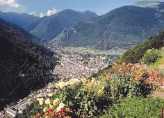 Bagneres de Luchon in the Pyrenees - beautiful