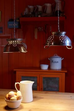 Colander Lamps...love, love, love it!!