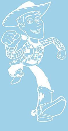 Toy Story Woody 6 White Car Truck VINYL Decal Art Wall Sticker USA Kids @ niftywarehouse.com #NiftyWarehouse #Toy #Story #Movie #ToyStory #Pixar