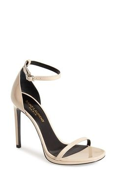 Saint Laurent 'Jane' Ankle Strap Leather Sandal (Women) available at #Nordstrom