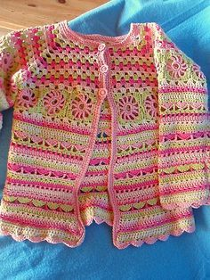 crocheted jacket - would love to make one for my little girl