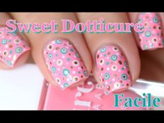 [ Nail Art ] Sweet Dotticure - Easy Polka Dot Nails TUTORIAL // melyne nailart - YouTube