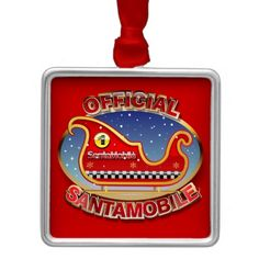 50% OFF ***Black Friday 2014*** Save 50% on Christmas ornaments TODAY ONLY - use coupon code: ZAZBLACKDEAL Expires on Nov. 28, 2014 at 11:59 PM PT SantaMobile Christmas Tree Ornaments
