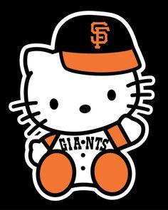 6e4eb79b28d Ladies SF Giants Hello Kitty Black V-Neck T-Shirt District Made San  Francisco