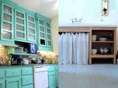 possibel kitchen cabinets...instead of painting the walls