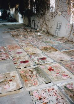 "paintedout: "" Anselm Kiefer's studio, 1998 """