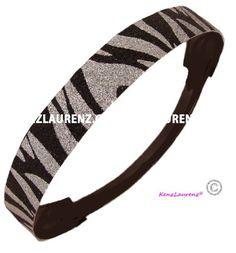 Silver and Black Zebra Glitter Headband by Kenz Laurenz - Elastic Stretch Sparkly Headbands for Teens Girls Women Softball Volleyball Basketball Sport Teams Set Pack Store Headbandz by Kenz Laurenz http://www.amazon.com/dp/B00DQ37YZ2/ref=cm_sw_r_pi_dp_O70.tb1WVQCH9