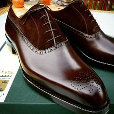 Ascot Shoes — Close up of the grade A French Calf used on the...