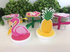 Festa flamingo e abacaxi