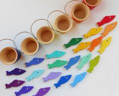 Gone Fishing kids wood montessori color by laughingcrickets, $36.00