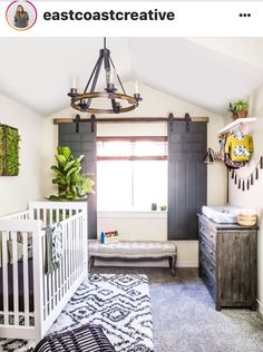 The overall look is just so cool. (For any room... since I don't need a baby's room)