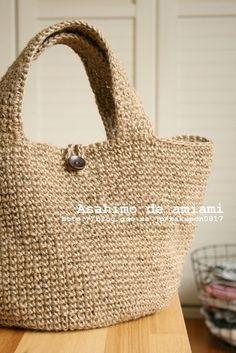 初心者も簡単!麻ひもバッグの編み方・作り方をたくさんまとめてみました!(材料 内布 画像 100均 付け方