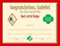 Bridge to Cadette Girl Scouts Certificate - Revised Girl Scout Swap, Girl Scout Leader, Girl Scout Troop, Boy Scouts, Girl Scout Badges, Brownie Girl Scouts, My Promise My Faith, Cadette Badges, Girl Scout Bridging
