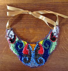 Beaded Bib Necklace by Random chic musings. Price: 20 Euros