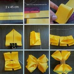 Diy Crafts - Pinwheel bow or clip Ribbon Hair Bows, Diy Hair Bows, Diy Bow, Diy Ribbon, Ribbon Crafts, Diy Crafts, Pinwheel Bow, Hair Bow Tutorial, Gift Bows