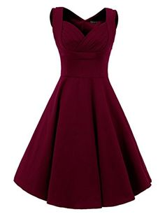 Vianla Women's 1950s V Neck Vintage Cut Out Casual Party Cocktail Dresses burgundy XXXL Vianla http://www.amazon.com/dp/B0169OFU4G/ref=cm_sw_r_pi_dp_B0Smwb1D4ABGF