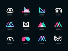 Mmmm  by Eddie Lobanovskiy for Unfold Inspiration Logo Design, Logo Design Trends, Graphic Design Tips, Identity Design, Logo Desing, M Design Logo, Corporate Logo Design, Corporate Branding, Brand Identity