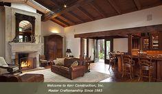 Kerr Construction. Rustic Retreat- Luxury Lifestyle - Mahogany Bar- Living Room- Interior Design