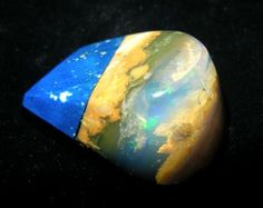 Oregon Opal with Lapis and Black Jade