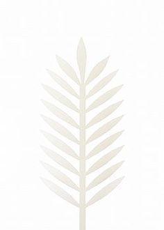 Feeling Tropical - Φύλλο Φοίνικα PVC Λευκό 43x18cm