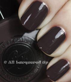 I love a good dark chocolate creme polish.  Mmmm, fall!