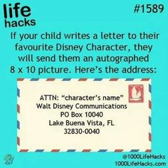 Letters from Disney!
