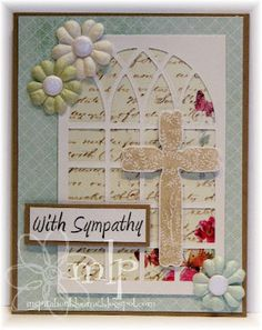 Prickley Pear Rubber Stamps: CLR032 Spring Crosses Clearly Beautiful Stamp Set, D032 Crosses Die, CC0068 With Sympathy