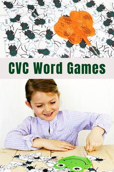 Students love learning to read CVC words with this hands on CVC word game! Great for first grade or second grade literacy centers or small group instruction! Short Vowel Activities, Phonics Activities, Kindergarten Activities, Reading Activities, Teaching Sight Words, Sight Word Games, Sight Word Activities, First Grade Games, First Grade Sight Words