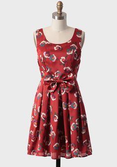 Oil Painting Floral Dress   Modern Vintage Dresses