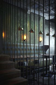 Interior design by   Pure Creative International: MATTO is a bar and pizzeria in Shanghai.