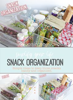 Simple and Easy way to keep those after school snacks organized