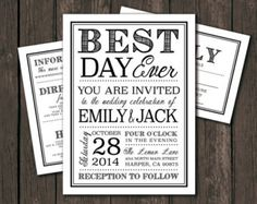 DIY unique Wedding Invitations Templates | Moder Wedding Invitation Template - Printable DIY Wedding Invitation ...