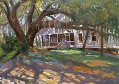 """""""Southern Mystique"""" 21"""" x 30"""" Available Old Southern home in Florida's Forgotten Coast"""