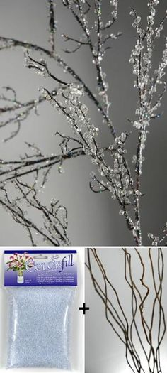 Branch Out! Decorating with Branches • Lots of Ideas & Tutorials! Make iced branches! by Morwen