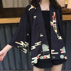 Cardigan Kimono Im Land der aufgehenden Sonne – Cardigan Kimono In the Land of the Cardigan Casual, Cardigan Kimono, Kimono Shirt, Pretty Outfits, Fall Outfits, Cute Outfits, Fashion Outfits, Fashion Women, Japanese Fashion