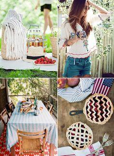 July 4th inspiration ..I like the wavy pie